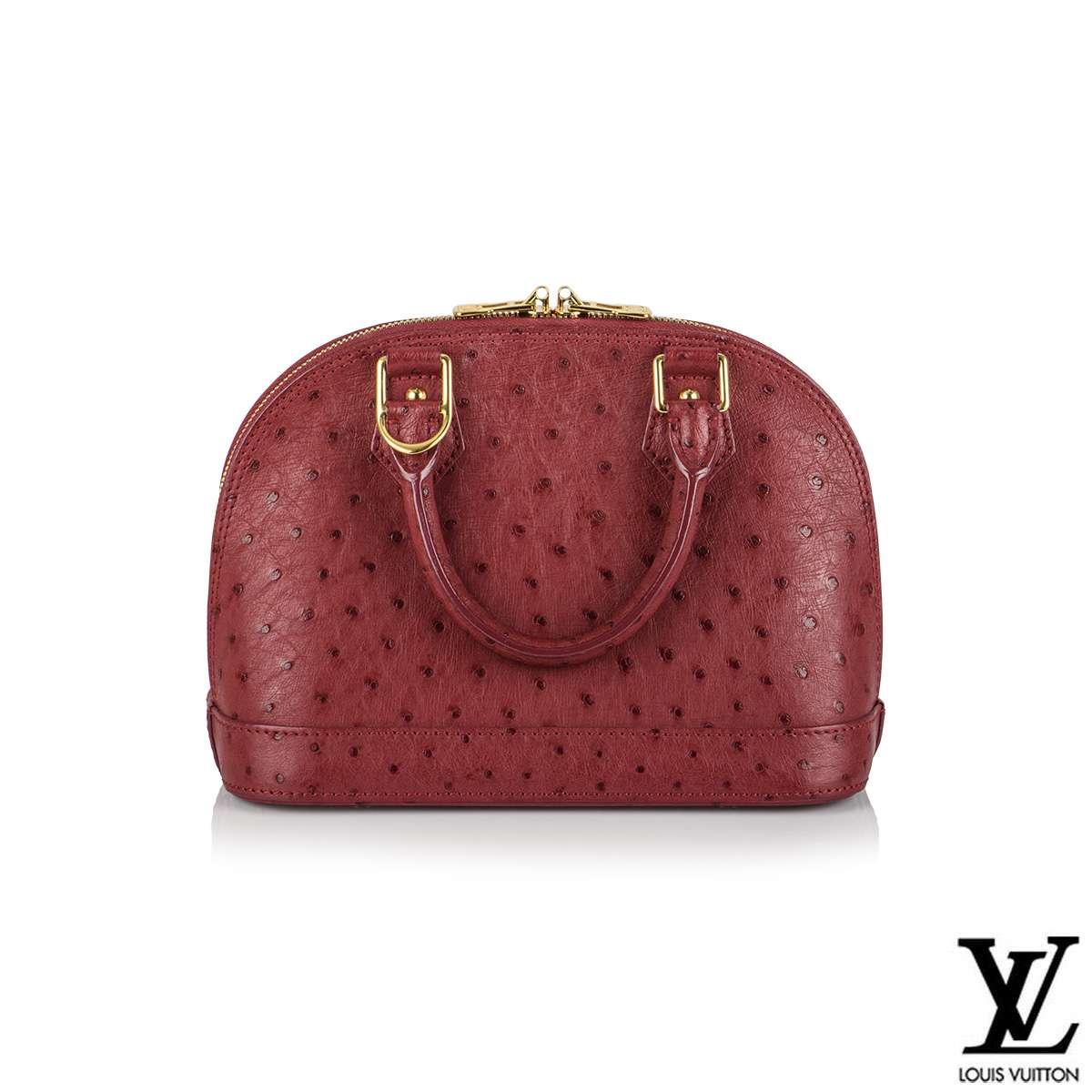 Louis Vuitton Fuchsia Ostrich Alma BB Bag